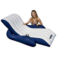 "Intex 71"" x 53"" 1-Person Inflatable Recliner Lounge, New"
