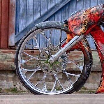 "30"" Bagger Wrap Fender Harley Davidson Touring Motorcycles Flh"