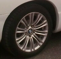 Bmw mag/Pneus rims and tires / Tires in good condition