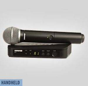 Shure BLX24/PG58 Wireless Mike Systems (Brand-New)