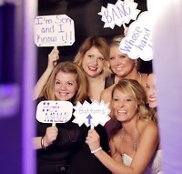Elegant photo booth for your special wedding day!  DJs, too!