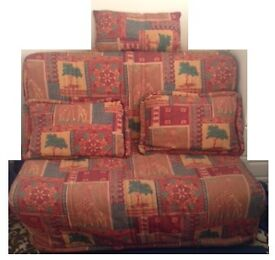 Compact double sofa bed