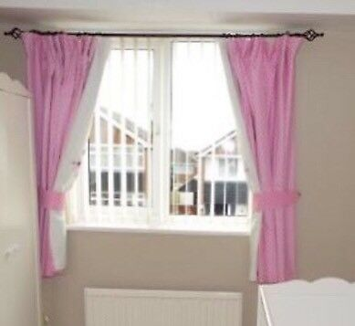 Children's Pink Pencil Pleat Blackout Curtains