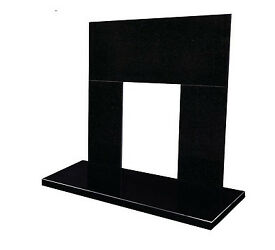 Black panel and hearth set (Black Granite)