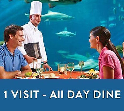 SEAWORLD ORLANDO TICKET + ALL DAY DINING $105  A PROMO DISCOUNT SAVINGS TOOL