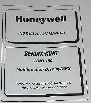 Bendix King KMD-150  GPS Display INSTALLATION Manual Honeywell Allied