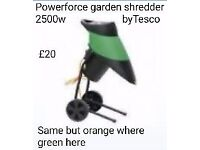 Garden shredder/chipper 2500w orange n black £20