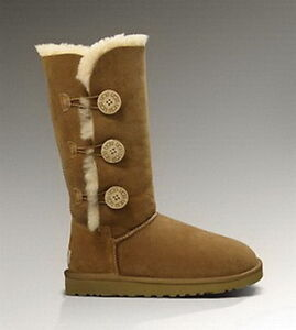 UGG Bailey Button Triplet 1873 Chestnut Boots