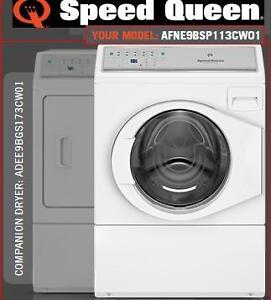 Speed Queen AFNE9BSP113CW01 Frontload Commercial Washer and ADEE9BGS173CW01 Electric Dryer for Home Use!