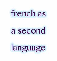 French as a second language