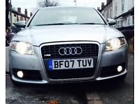 2007 AUDI A4 S-LINE 140 2.0 TDI DIESEL MINT CONDITION GENUINE S-LINE HPI CLEAR BARGAIN!!