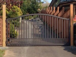 Custom Aluminum Driveway Gates & Automated Gate Opening Systems! Comox / Courtenay / Cumberland Comox Valley Area image 1