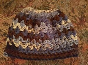 Messy Bun Crochet Hats - Variety of Colours Available Peterborough Peterborough Area image 4