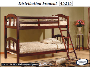 Lit superposé neuf/new Bunk Bed en métal et bois en  liquidation