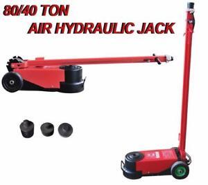NEW 80 TON AIR HYDRAULIC JACK 2 STAGE FLOOR INDUSTRIAL