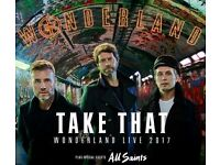 2 x Take That tickets Friday 26th May 2017 @ Manchester Arena
