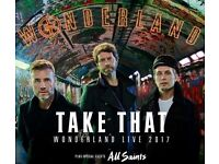4 x Take That tickets Friday 26th May 2017 @ Manchester Arena
