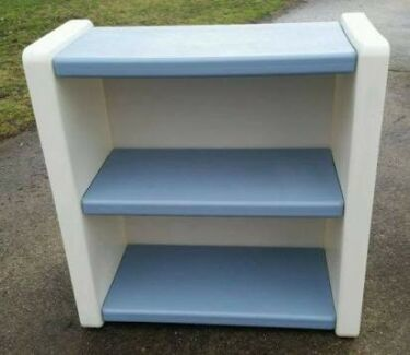 Vintage Little Tikes Bookshelf / Book Shelf Toy Storage