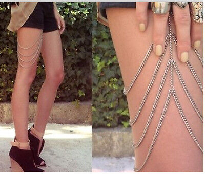HOT SILVER  4 STRAND LEG CHAIN THIGH CHAIN on Rummage