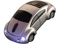 Sports Car Mouse with Illuminating LED Headlights: Brand New