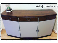 Pine Solid Sideboard Hand Painted in Mineral Paint.