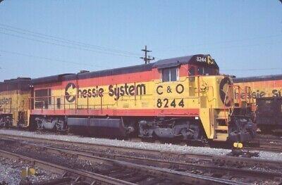 C&O 8244 B30-7 NEWPORT NEWS VA (CHESSIE) 09-03-84 ORIGINAL SLIDE T11-9