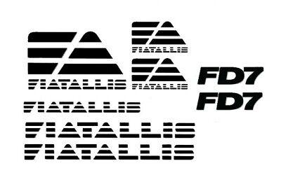 Allis Fiat Fd7 Dozer Crawler Decal Set Tractor Stickers 3m Bull F D 7 Fiatallis