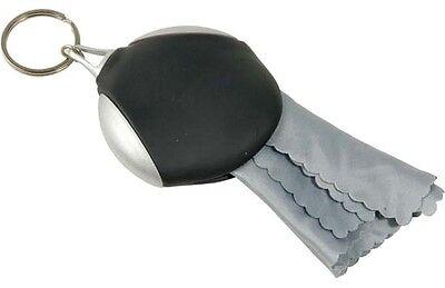 Portachiavi Diametro 6 cm con panno (5,5x7 cm) per la pulizia degli occhiali
