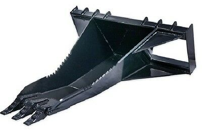 60 Heavy Duty Stump Bucket Skid Steer Loader Attachment Bobcat Gehl Cat Asv Jcb