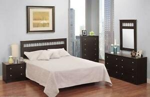LORD SELKIRK FURNITURE - 121 Series -6PC Bedroom Set/Suite (Dresser, Mirror*, Chest, x2 Night Stands & Headboard-$399.00