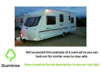 2003 lunar Solar 525 5 berth caravan -- Read the description before replying!!