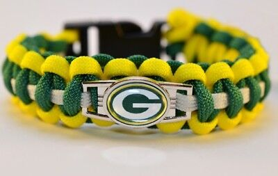 Paracord Armband Green Bay Packers NFL Parachute Cord Bracelet ()
