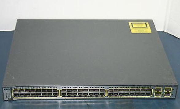 Cisco Ws-c3750-48ps-s Catalyst Poe 48-port Gigabit Network Switch