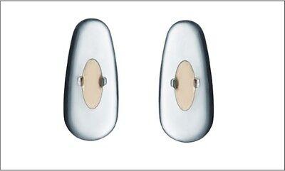 2 Paar Silikonpads, Nasenpads, passend für RayBan Brillen mit Umbiegelasche