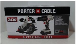 New Porter Cable Drill/Driver& circular saw kit