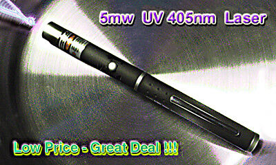 ULTRAVIOLET Laser Pointer with 2 x AAA QUANTUM  Duracell Batteries 405nm