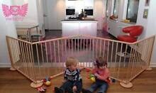 Kids Multi purposes Deluxe Natural Wooden Playpen 8 Panels Gates Campbellfield Hume Area Preview