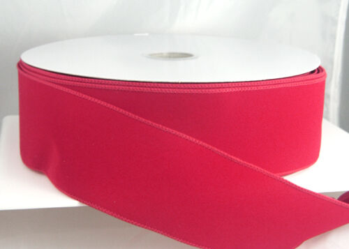 Wired Velvet Christmas Ribbon - Red, Brick, Burgundy 40, 9, 2 1/2 Or 1 1/2