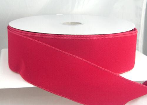Wired Velvet Christmas Ribbon - Red, Brick, Burgundy 40, 9, 2 1/2 Or 1 1/2