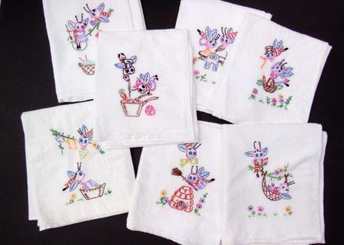 embroidered dish towels | ebay