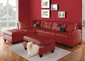 54% OFF Until August 27, 2016. Floor Model Large Red Sectional with FREE Storage Ottoman. Regular $2399 Now $1103.54+HST