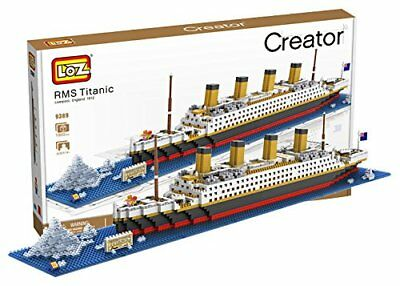 Building Block Toys (RMS Titanic Micro Building Block (1860 pcs) LOZ-9389 Toy Bricks w. Original)