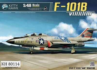 Used, Kitty Hawk 1/48 F101B Voodoo Fighter Plastic Model Kit 80114 KH80114 for sale  Saint Charles