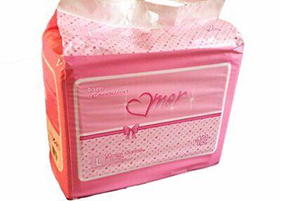 Women's High Capacity ABDL Adult Diapers w/ Gorgeous Feminine Design (12ct) M/L - Gorgeous Feminine Designer