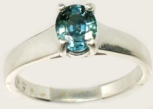 "Blue Sapphire Ring 1ct Antique 19thC Ancient Persian Medicinal ""Gem of Heaven"""