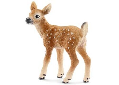 Schleich - White-Tailed Fawn deer toy figure NEW * Wild Life #14711