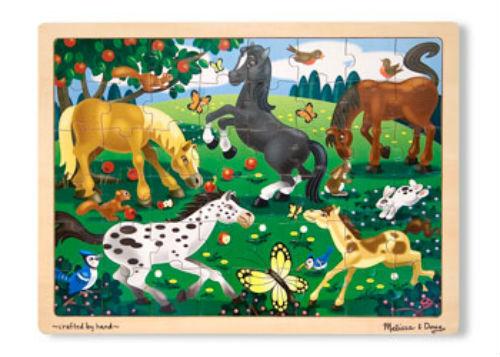Melissa & Doug 48 piece Frolicking Horses Wooden Jigsaw Puzzle MND3801
