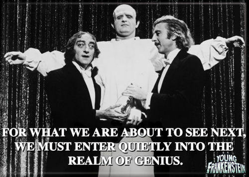 """Young Frankenstein Photo Quality Magnet: """"...  Realm of Genius"""""""