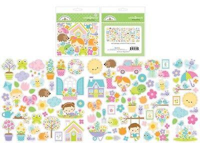 Scrapbooking Crafts Doodlebug Odds Ends Simply Spring Cottages Flowers Sun Kids - Kids Spring Crafts