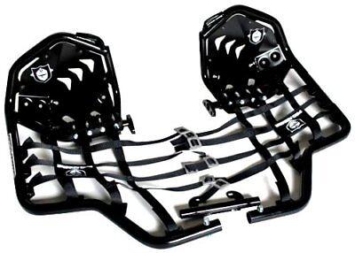Pro Armor Revolution Nerf Bars with Heel Plates Black Yamaha Raptor 700